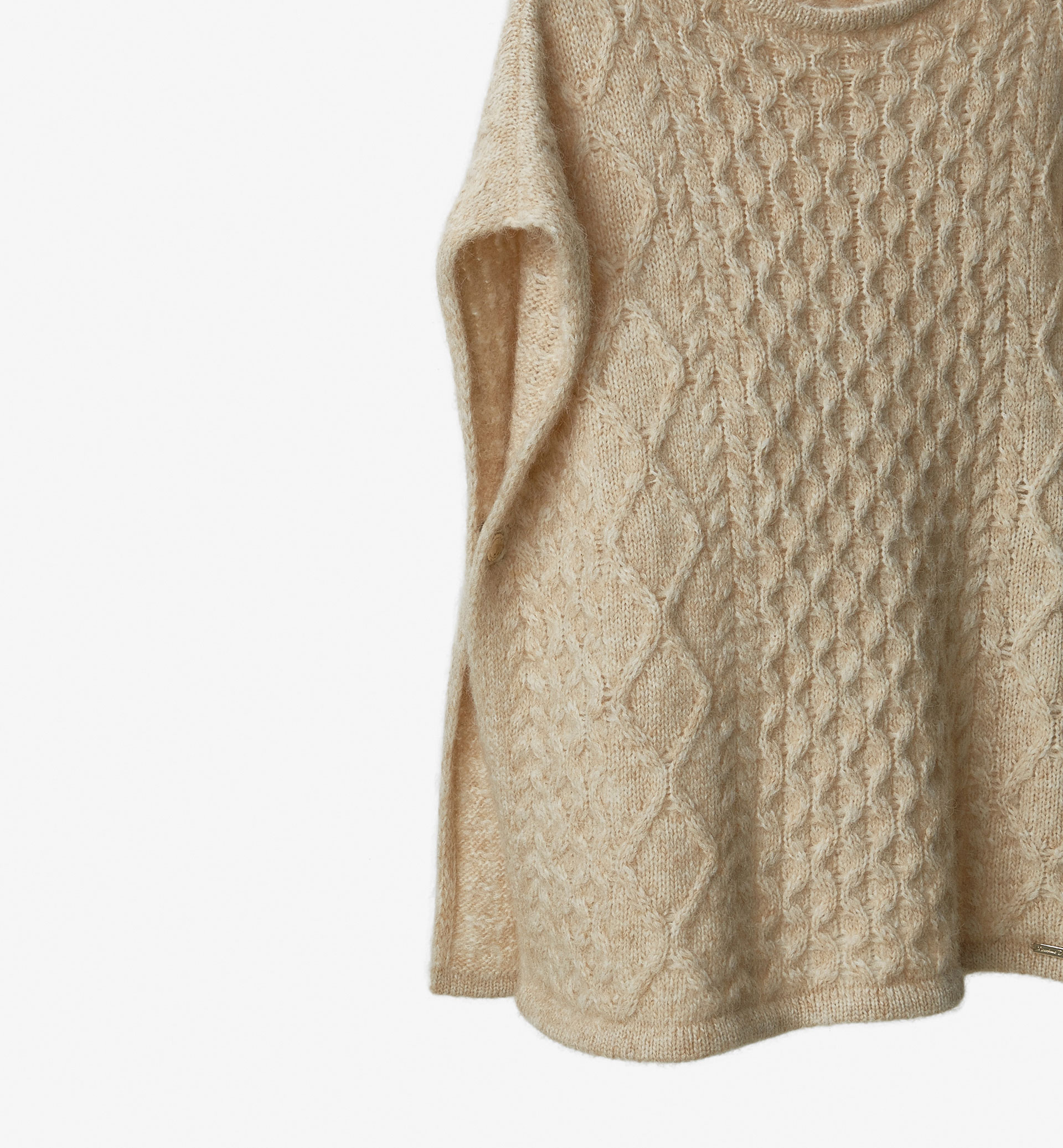 LIMITED EDITION CABLE KNIT DETAIL CAPE
