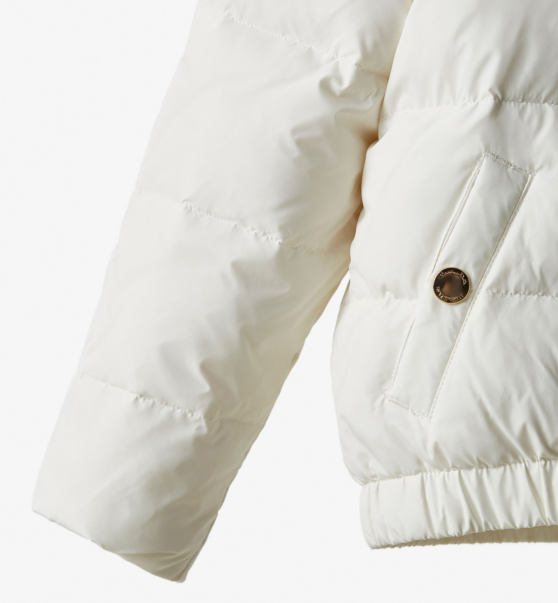 LIMITED EDITION FEATHER DETAIL WHITE JACKET
