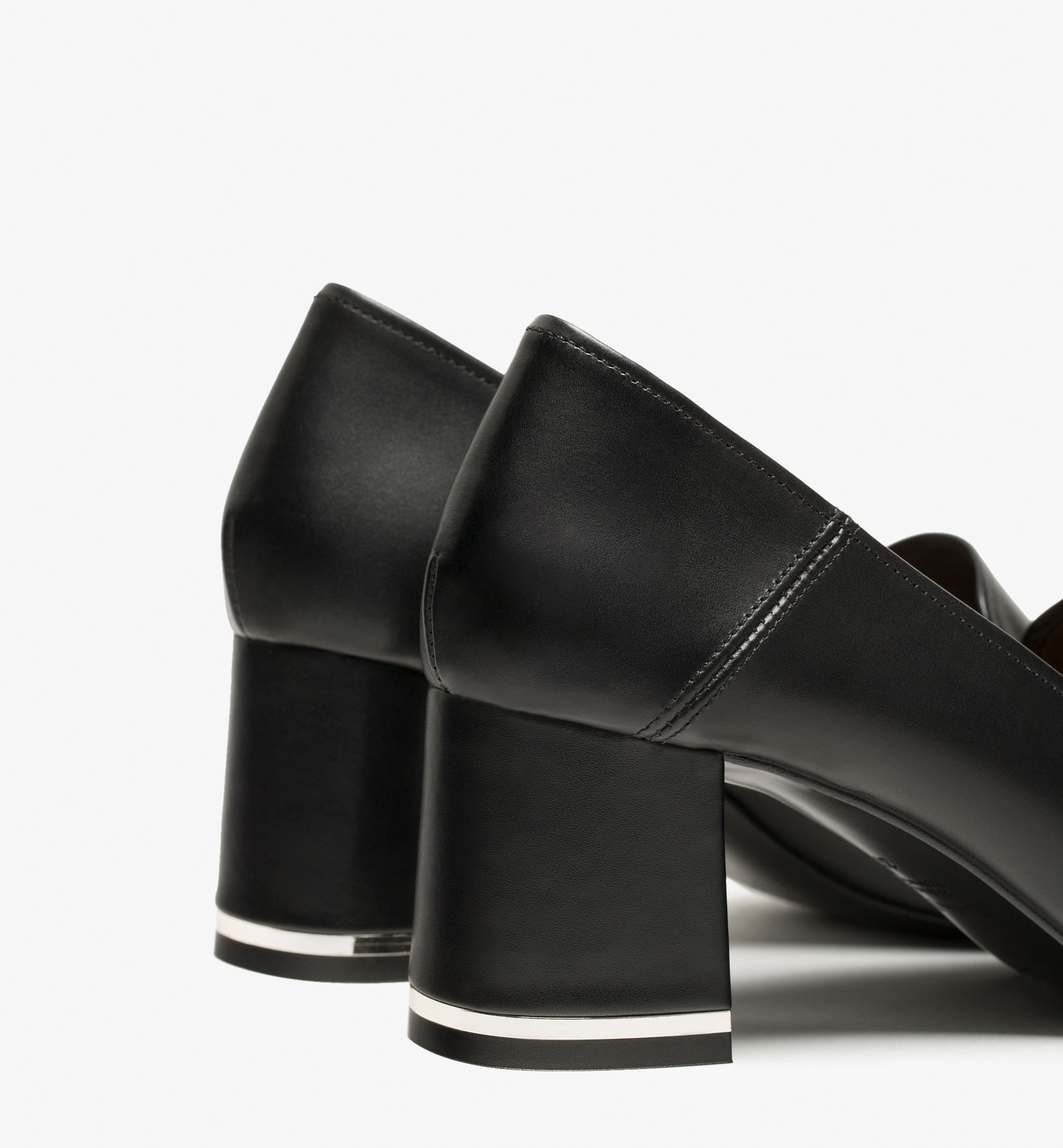 BLACK HIGH HEEL BABOUCHES