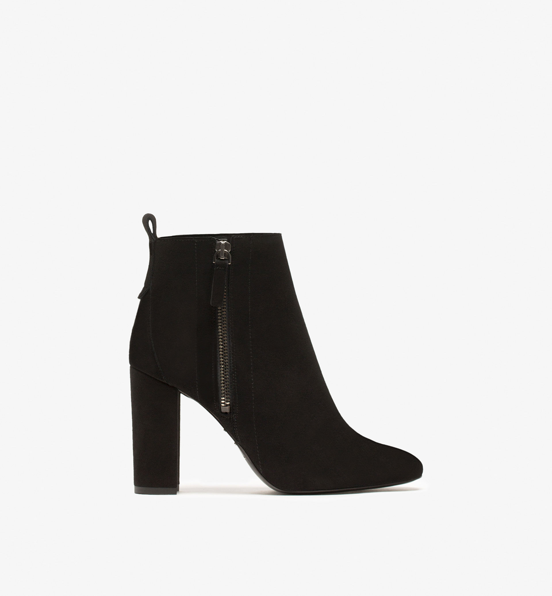 SUEDE HIGH HEEL ANKLE BOOTS