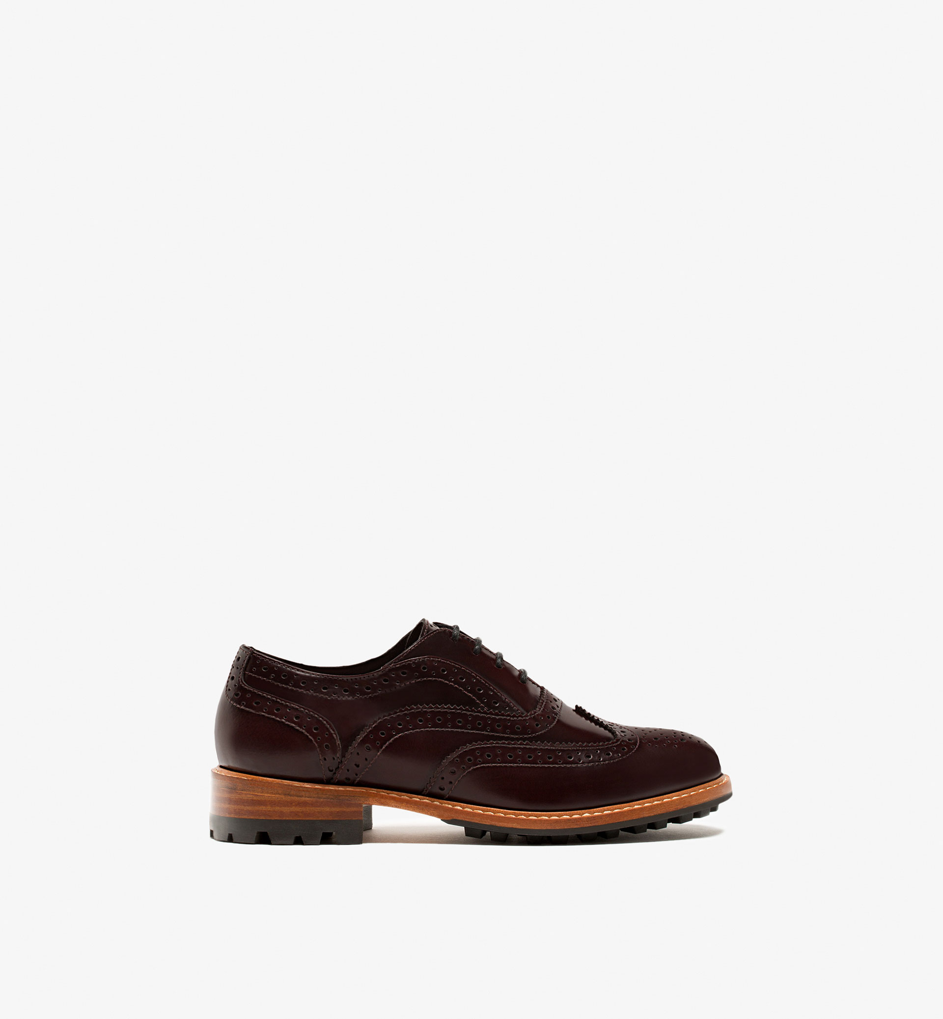 BURGUNDY ANTIK LEATHER OXFORD SHOES