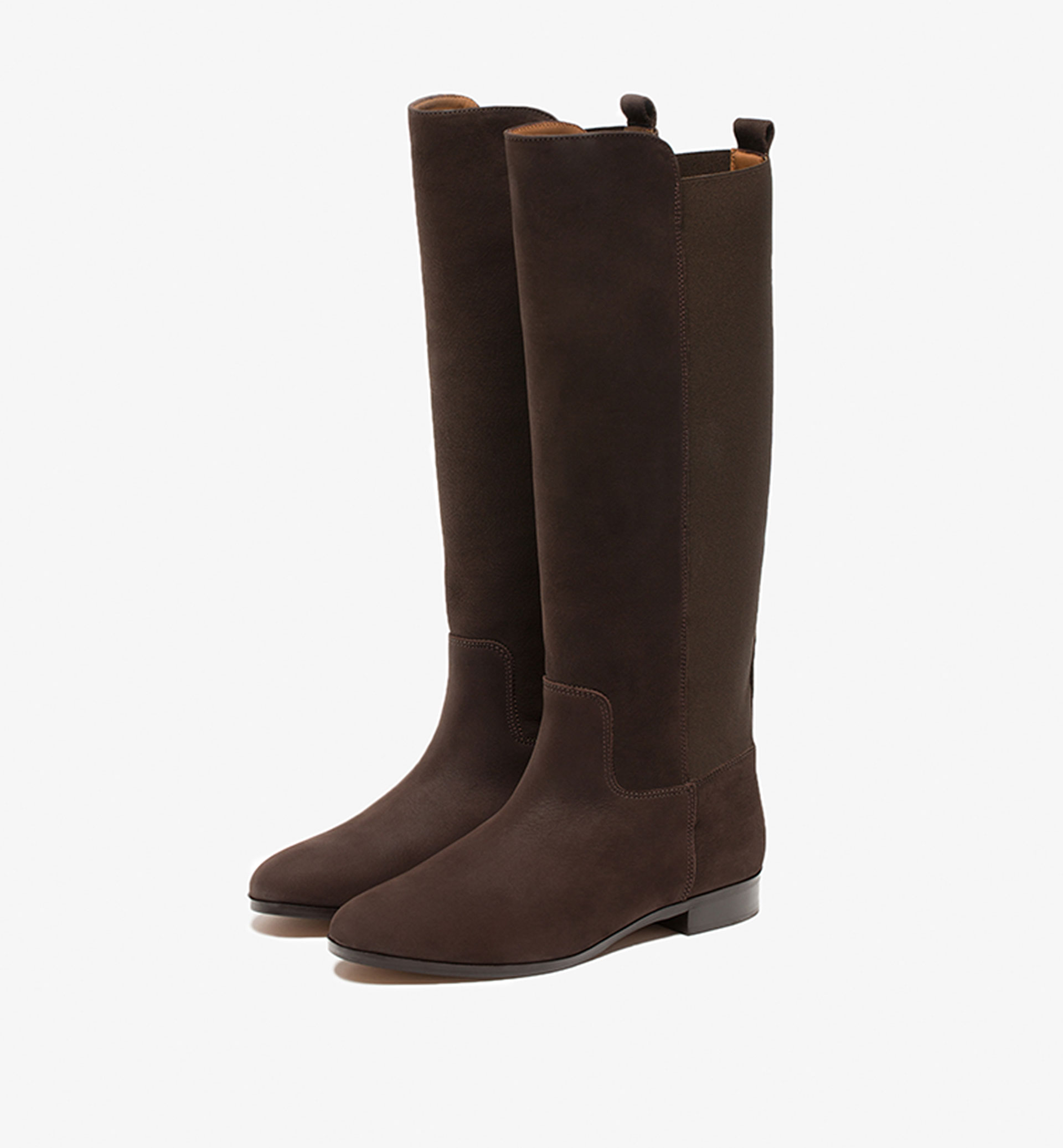 STRETCH BROWN BOOTS