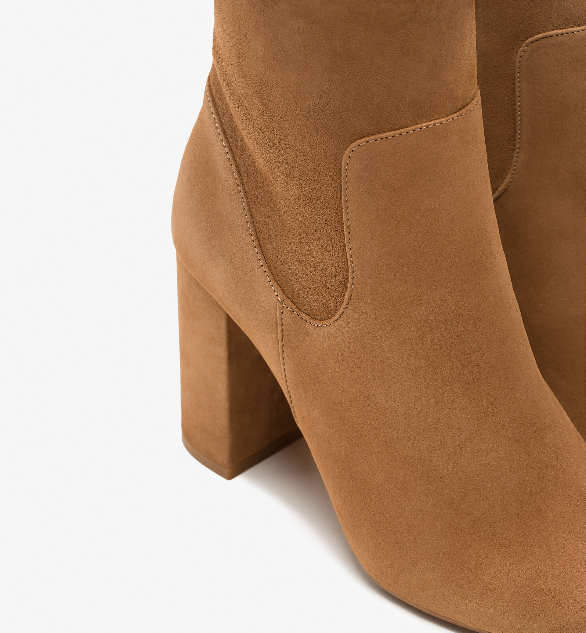 TAN SUEDE ANKLE BOOTS