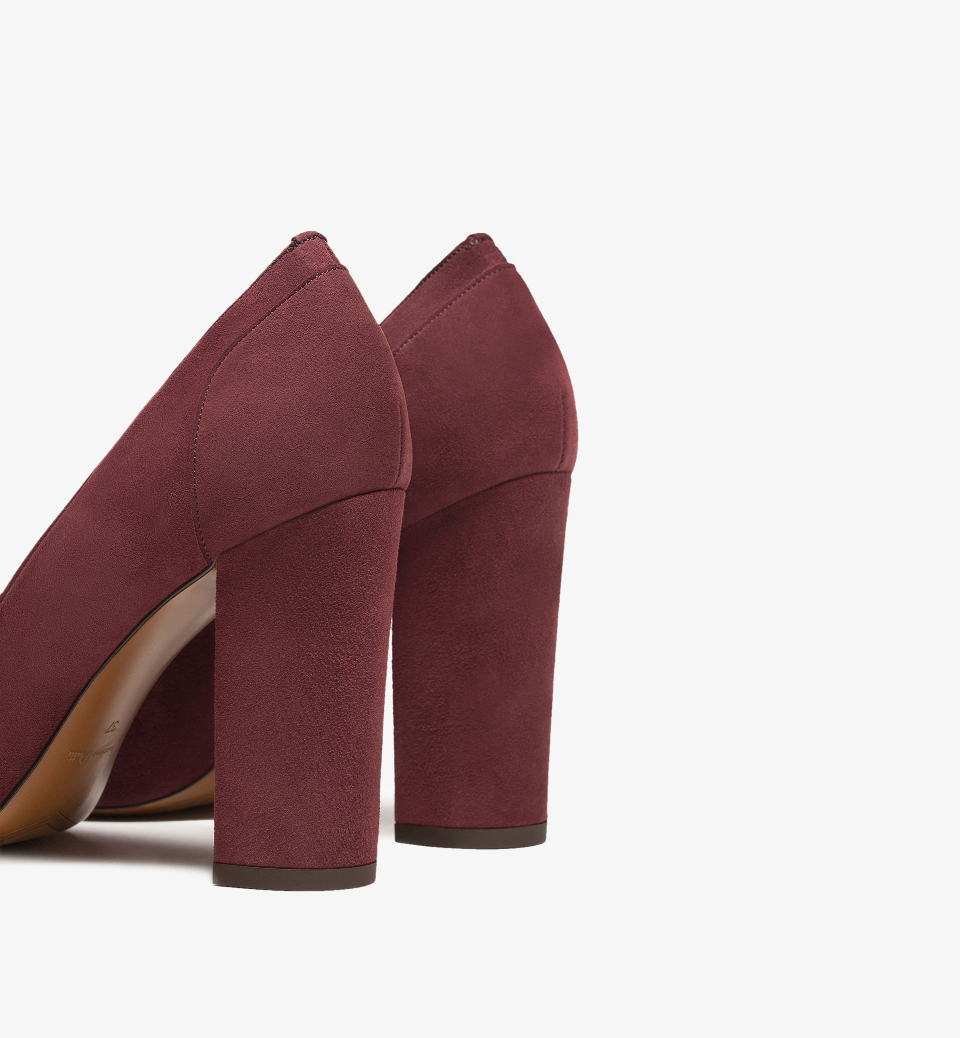 BURGUNDY SUEDE HIGH HEEL SHOES