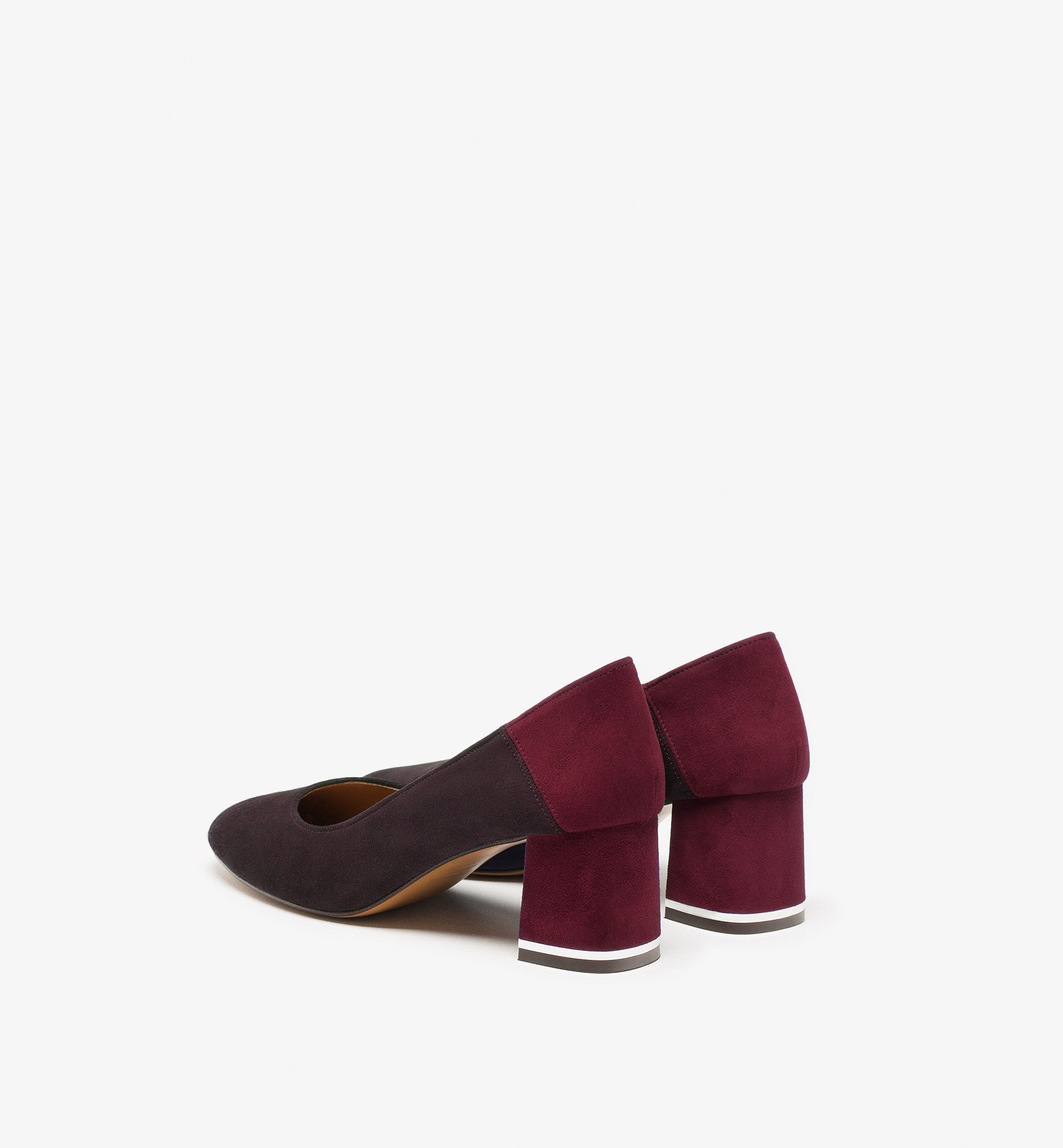 BURGUNDY SUEDE HIGH HEEL BABOUCHES