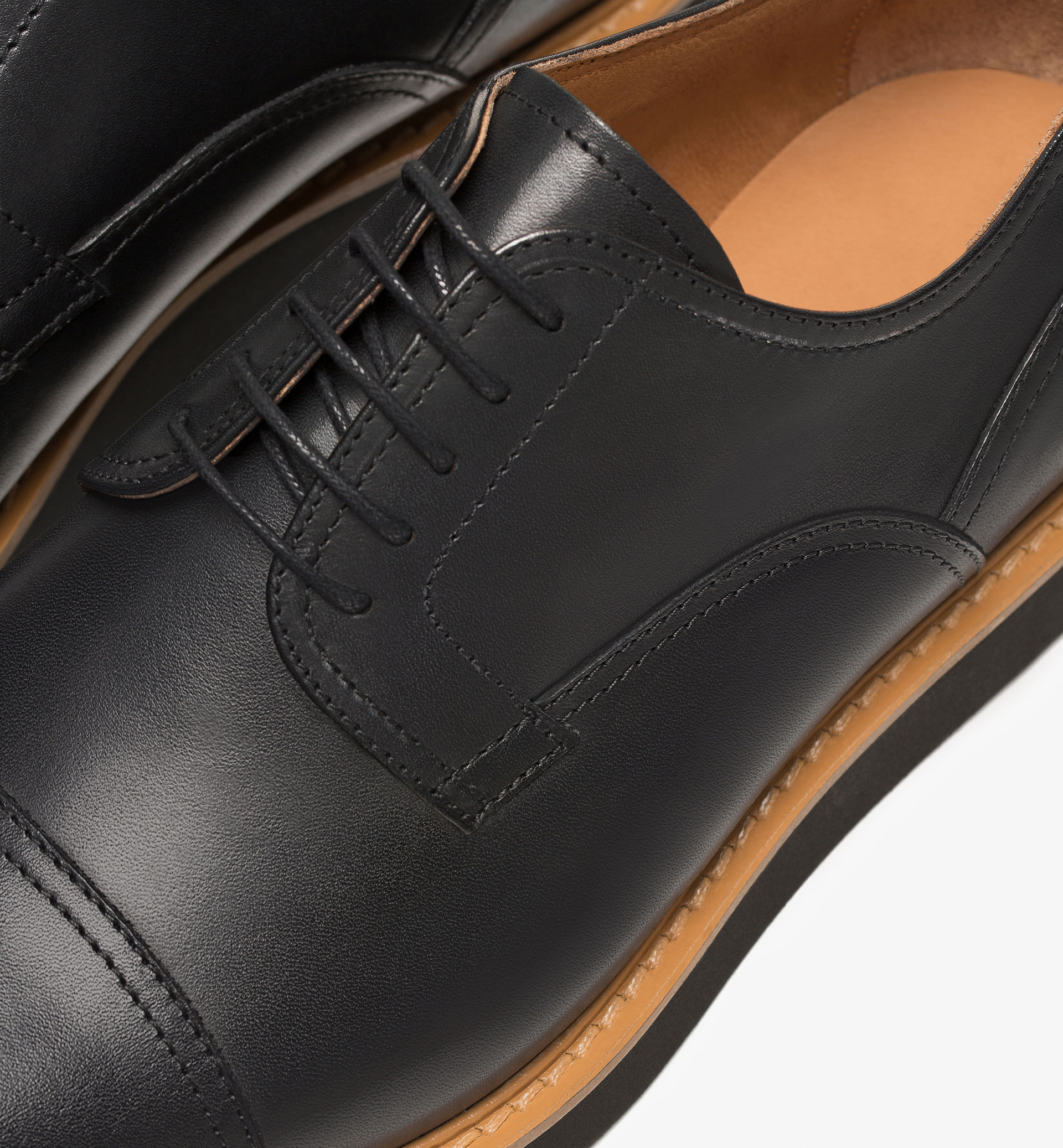 LEATHER BLUCHER SHOES