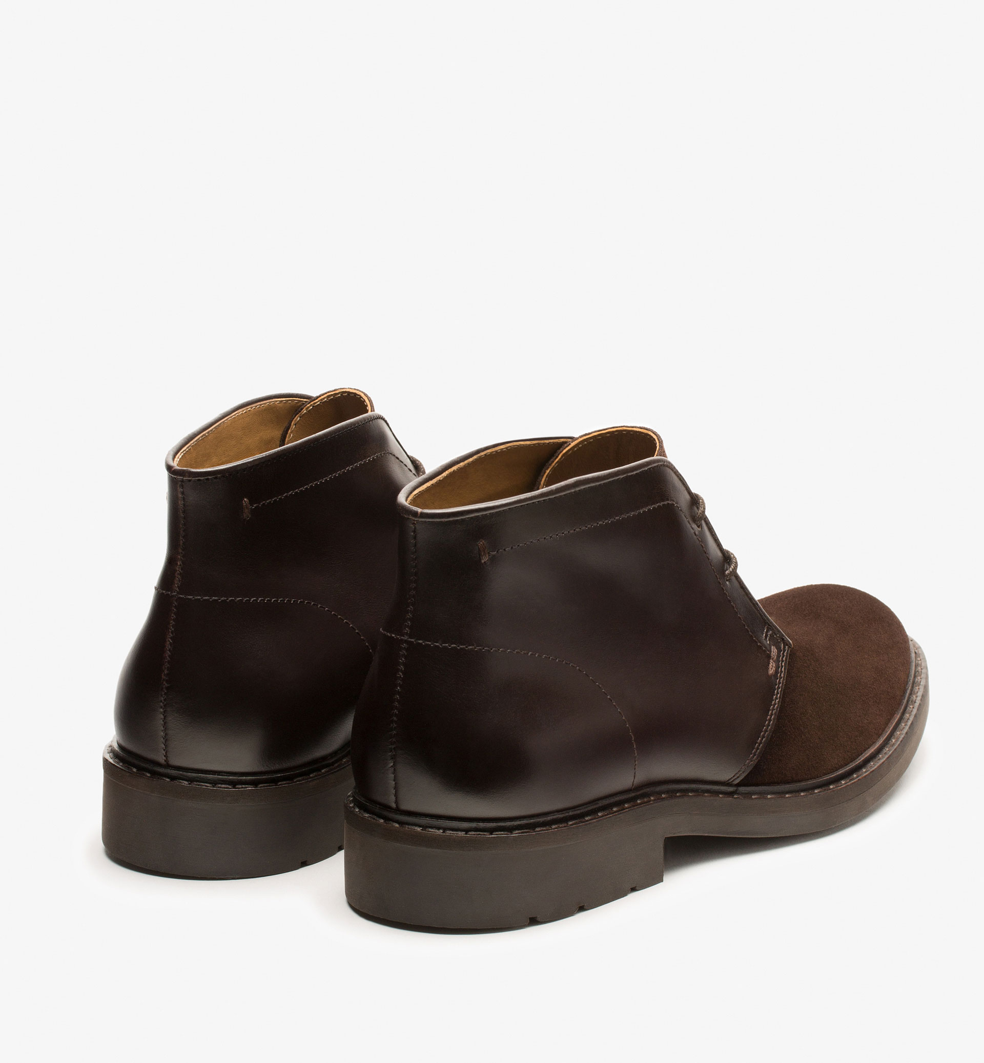 CONTRAST SAFARI ANKLE BOOTS
