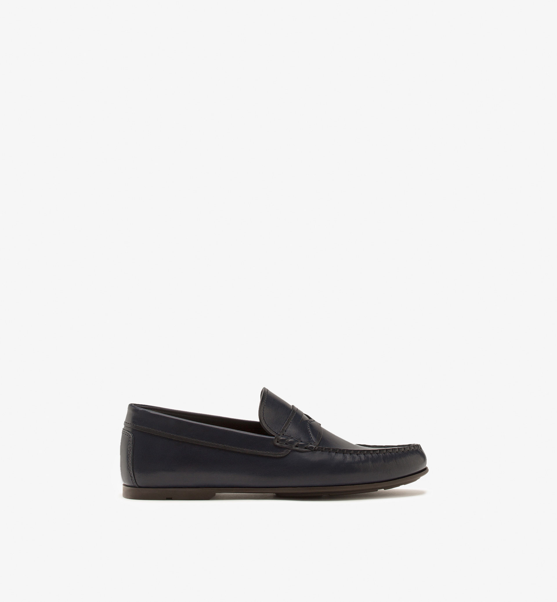 BLUE NAPPA PENNY LOAFERS