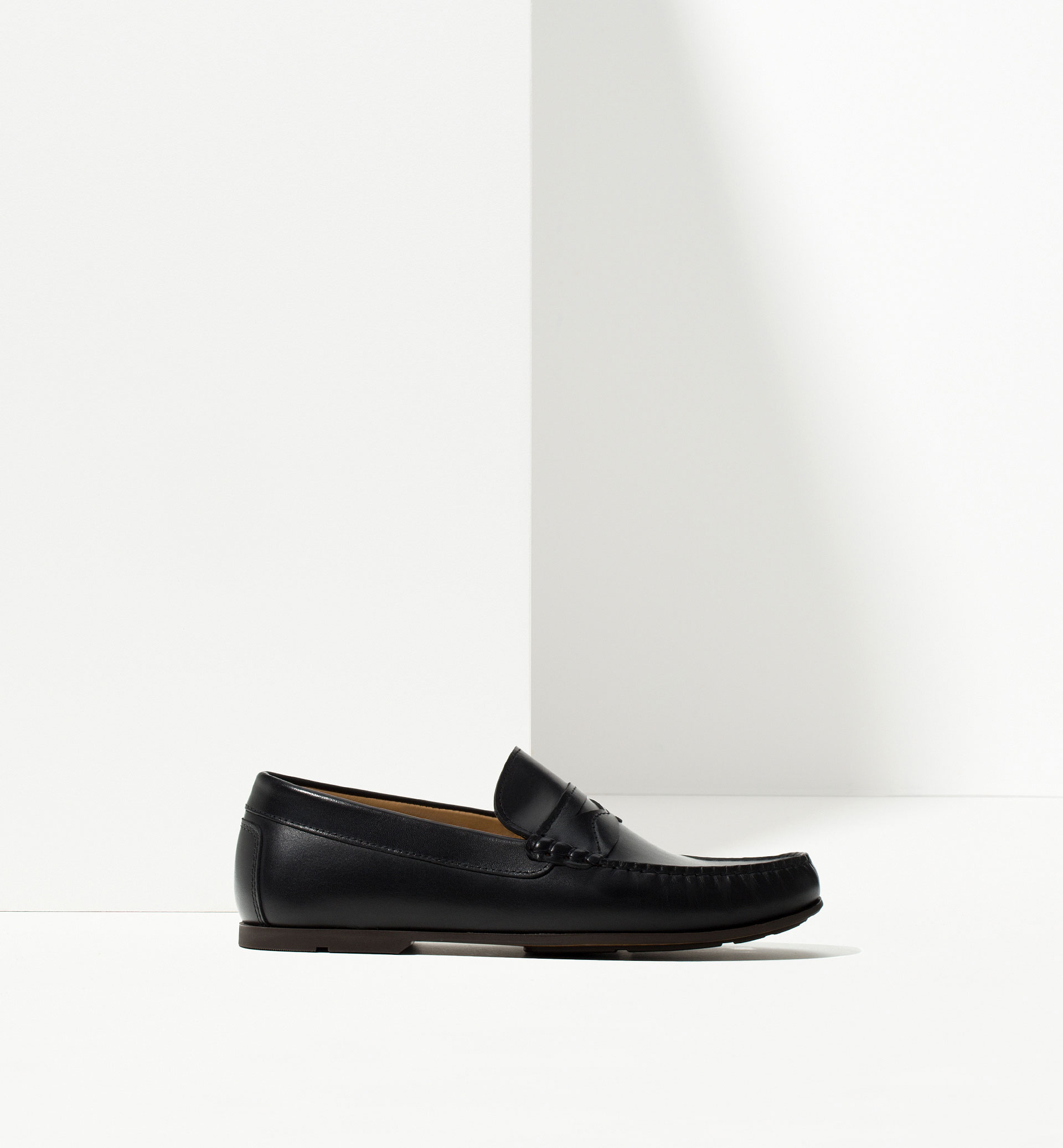 BLACK NAPPA PENNY LOAFERS