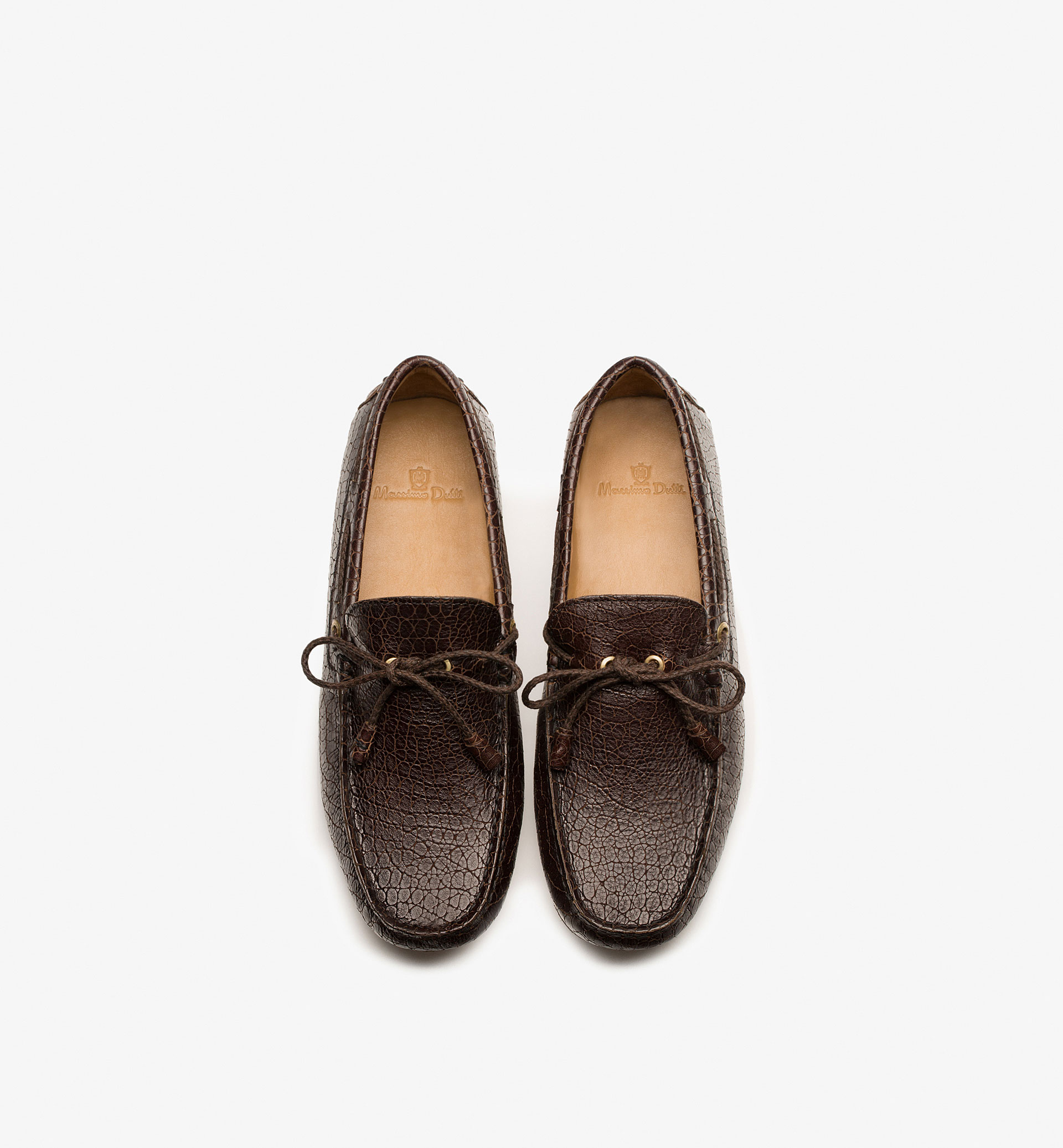 EMBOSSED LEATHER LOAFERS