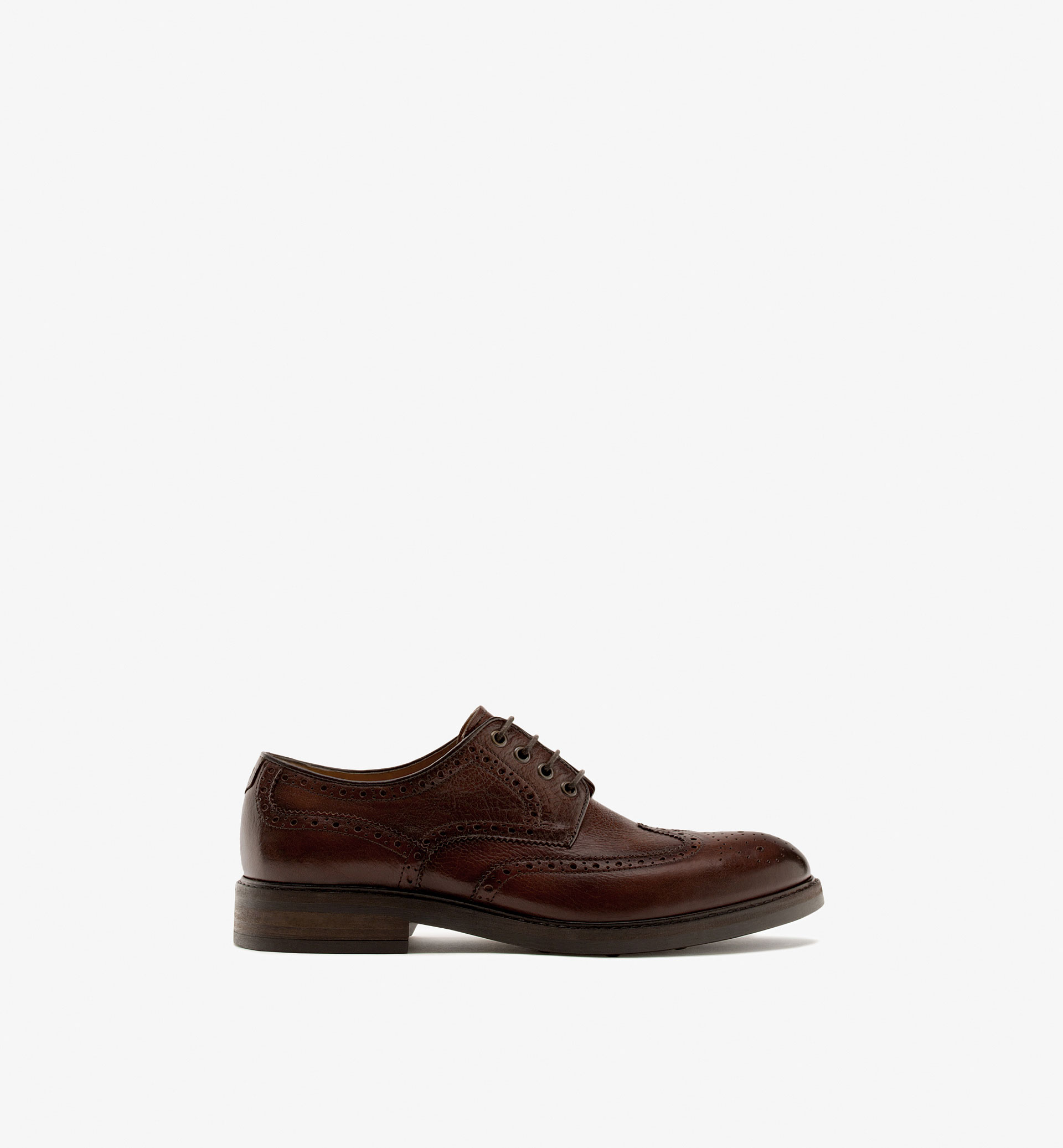 EMBOSSED NAPPA BLUCHERS WITH BROGUING