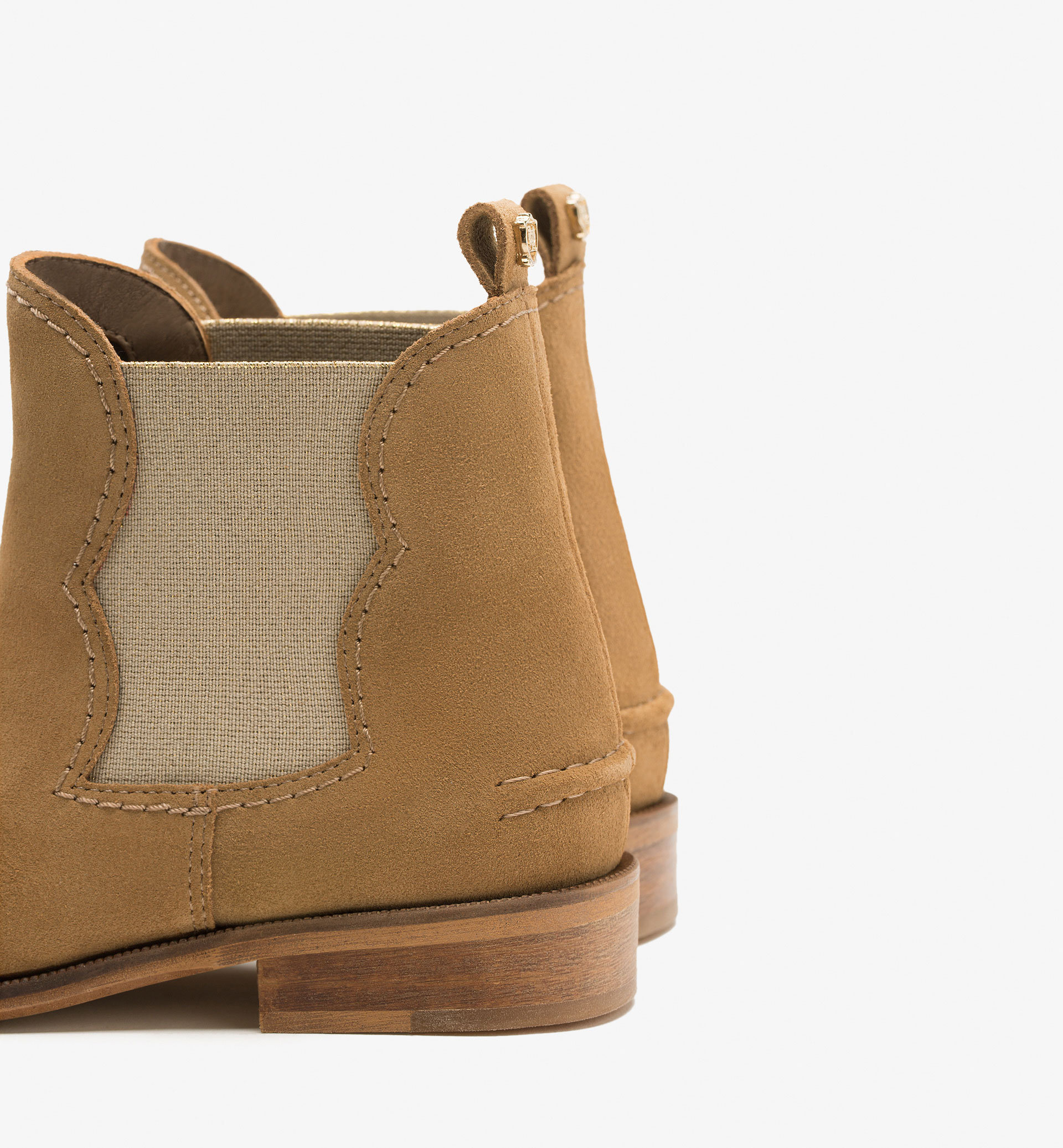 GOLD ELASTIC ANKLE BOOTS