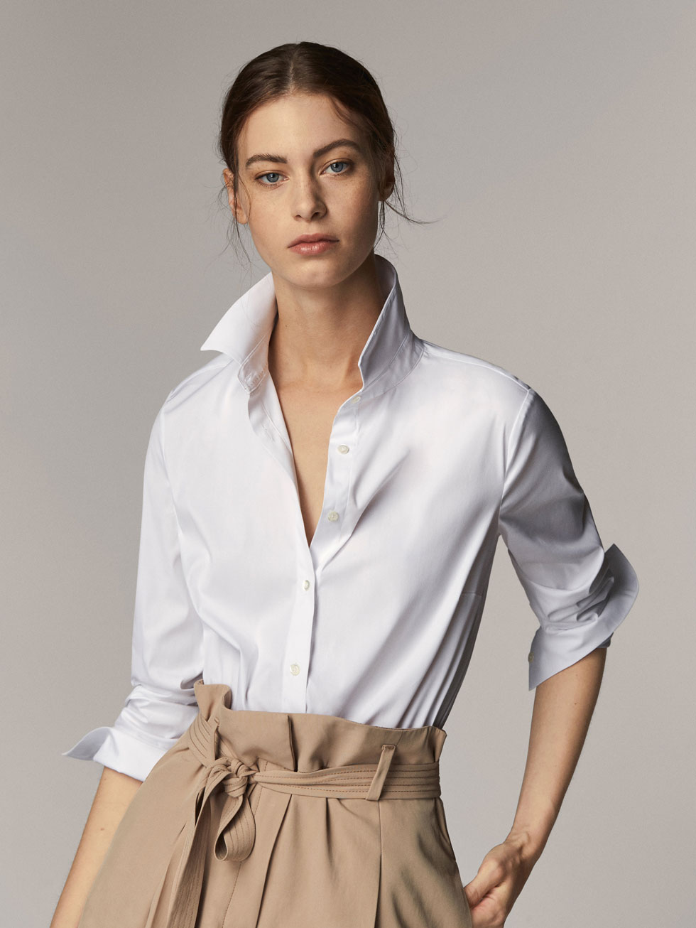 Plain white shirts - Shirts & Blouses - WOMEN - Massimo Dutti