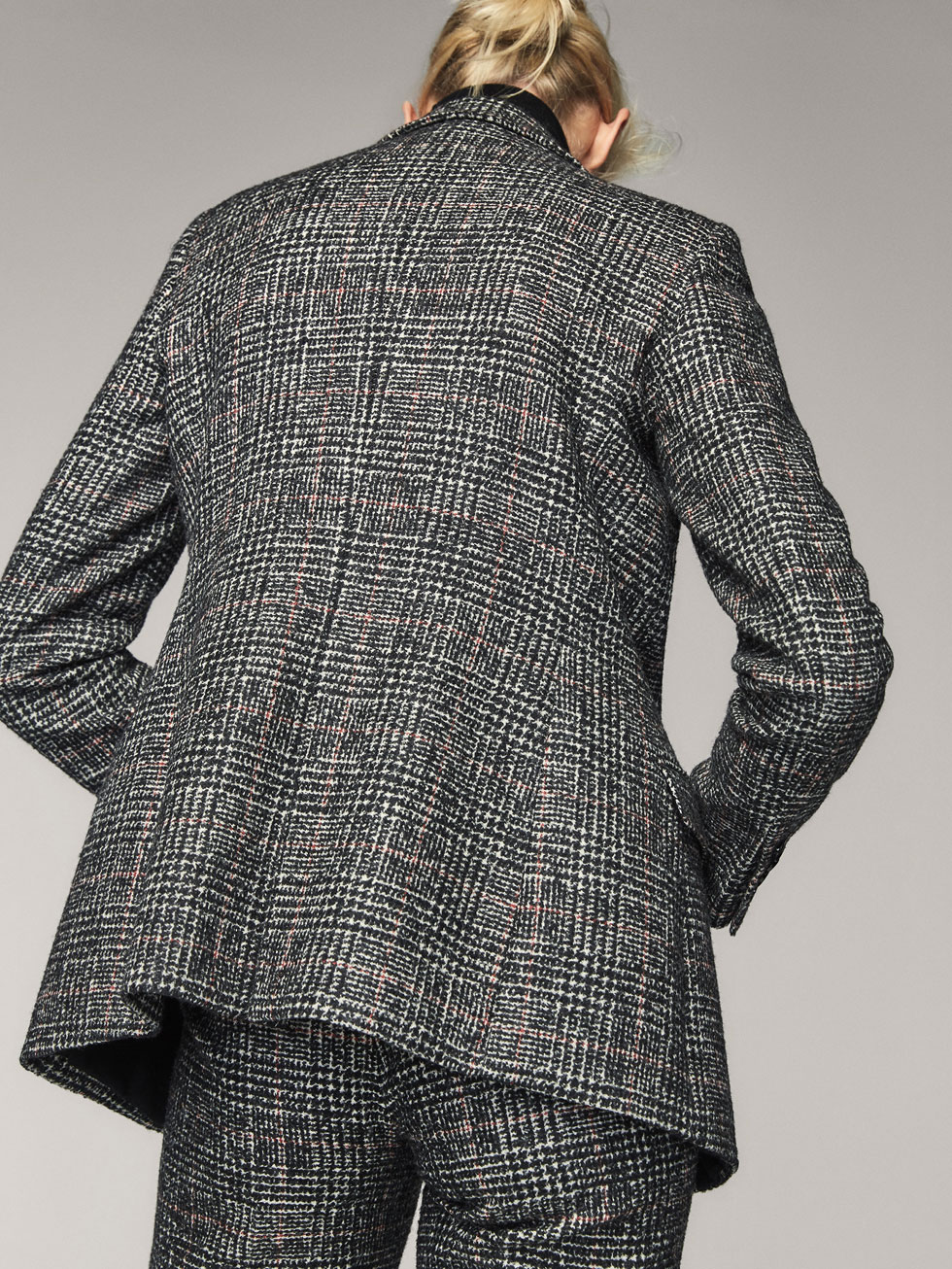 SLIM FIT EMBELLISHED WOOL DOUBLE BREASTED SUIT BLAZER - Women ...