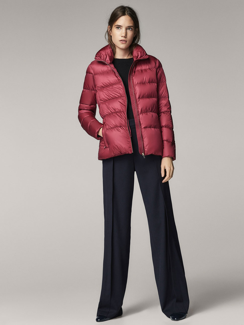 QUILTED DOWN JACKET - Women - Massimo Dutti