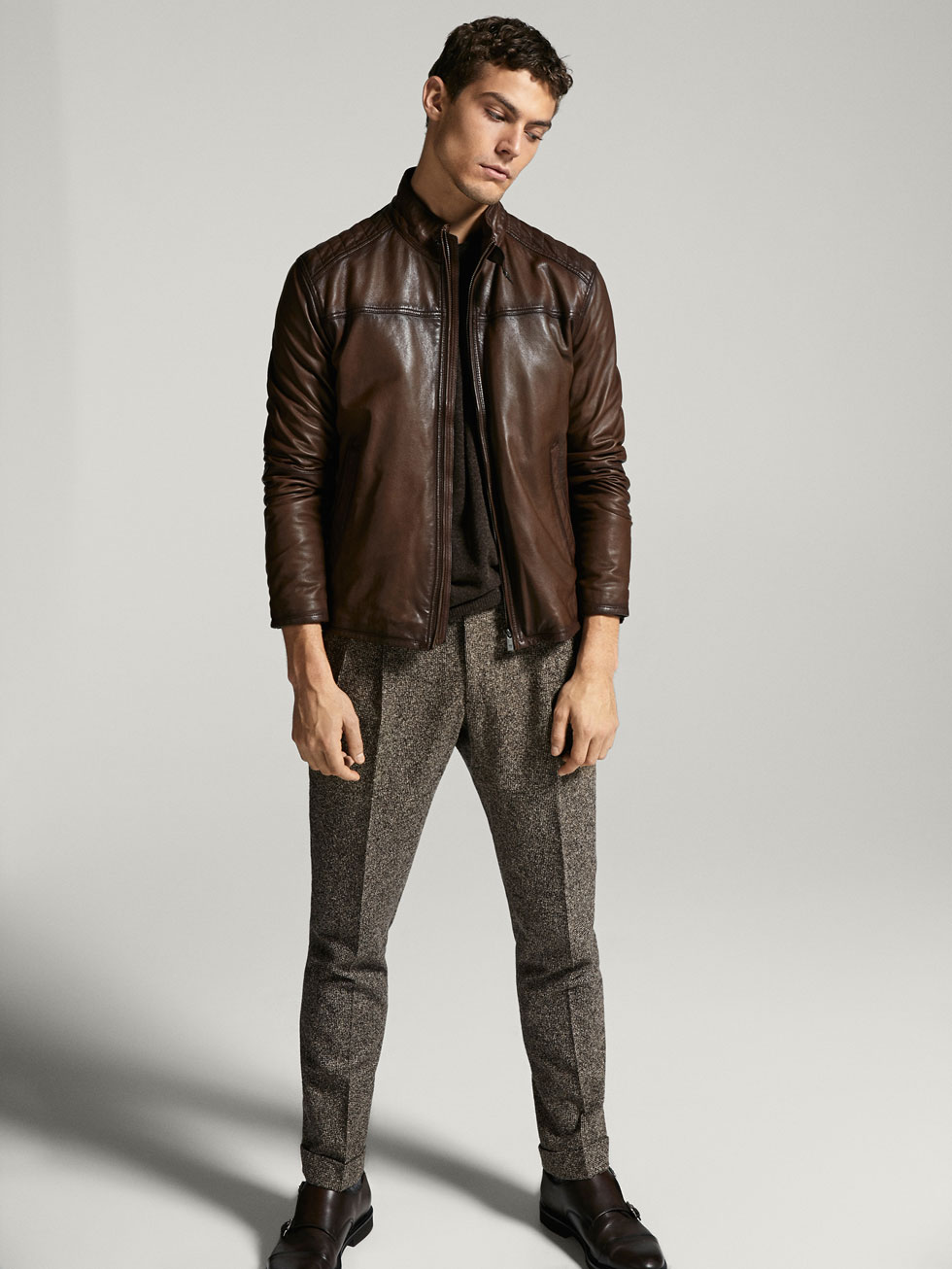 Massimo dutti leather jackets