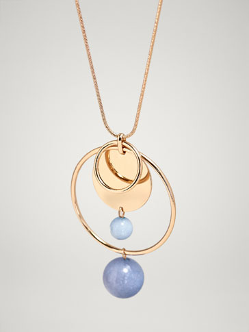 NATURAL STONE SPHERES NECKLACE