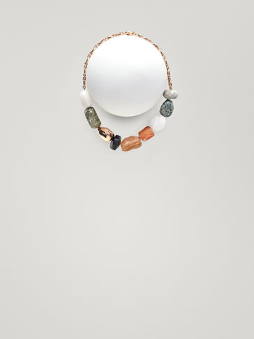 MULTICOLOURED STONE NECKLACE