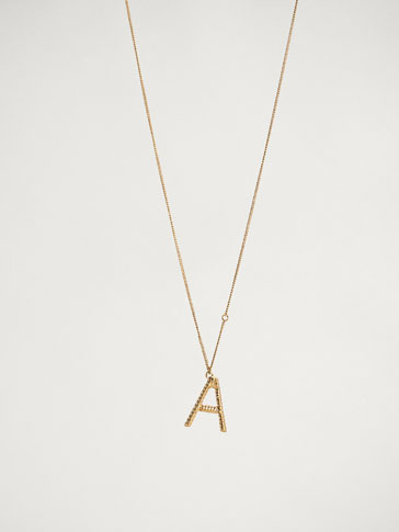 ONLINE EXCLUSIVE LETTER A NECKLACE
