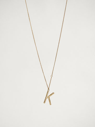 Online Exclusive Letter K Necklace by Massimo Dutti