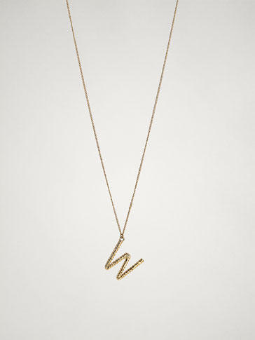ONLINE EXCLUSIVE LETTER W NECKLACE