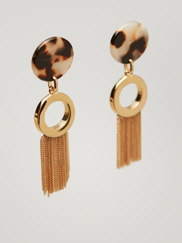 DISC AND TASSEL EARRINGS