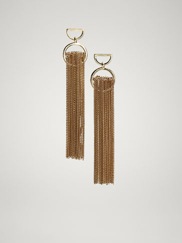 PENDANT AND TASSEL EARRINGS