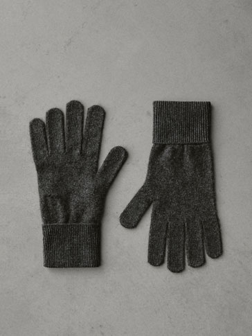 PLAIN 100% CASHMERE GLOVES