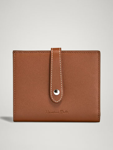 NAPPA LEATHER PURSE WITH STRAP