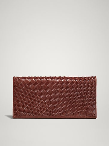 PLAITED LEATHER PURSE-WALLET