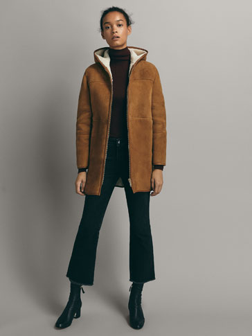 Double Faced Suede Coat by Massimo Dutti