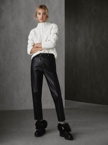 WINTER CAPSULE SEAMED NAPPA JOGGING TROUSERS