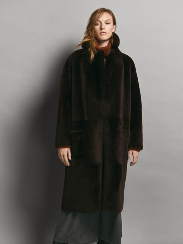 LIMITED EDITION REVERSIBLE DOUBLE-FACED MOUTON COAT