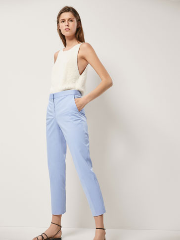CHINOS WITH SIDE PIPING
