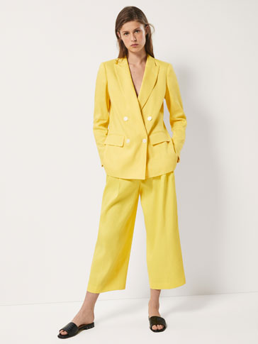 CULOTTE FIT TROUSERS WITH DARTS