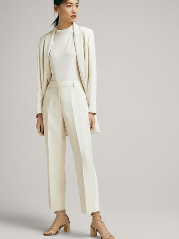 CROPPED TROUSERS WITH SIDE STRIPES