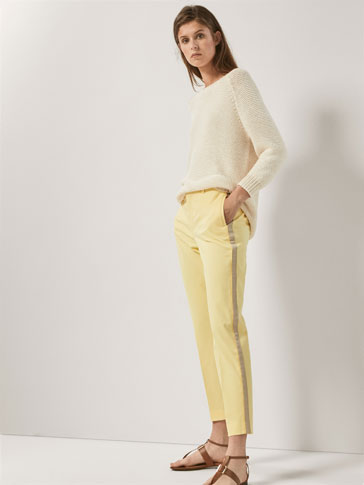 CHINOS WITH SIDE STRIPES