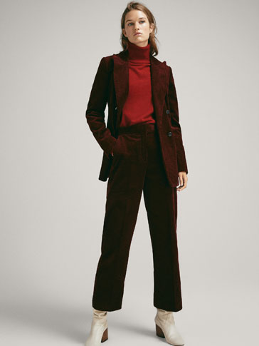 WIDE FIT CORDUROY TROUSERS