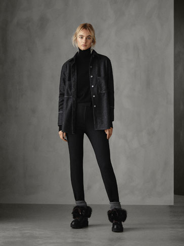 PANTALÓN LEGGING NEGRO TIRA LATERAL SKINNY FIT WINTER CAPSULE