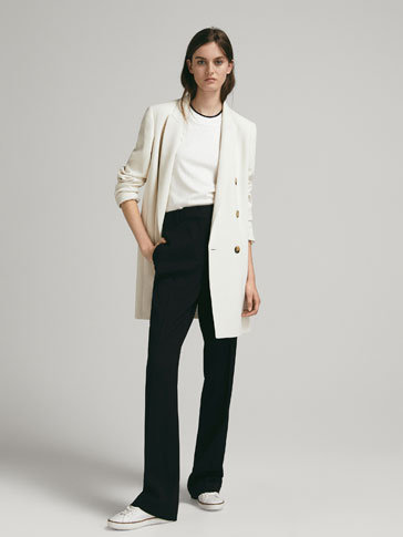 PLAIN BOOT-CUT TROUSERS