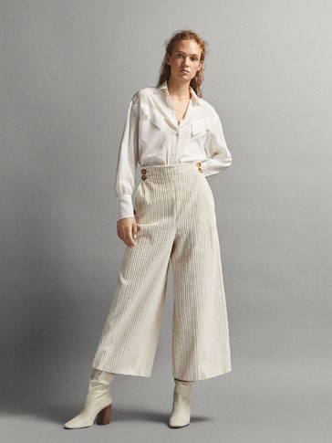 LIMITED EDITION CULOTTE FIT COTTON CORDUROY TROUSERS