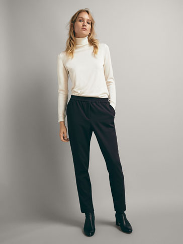 PANTALON UNI COUPE JOGGING