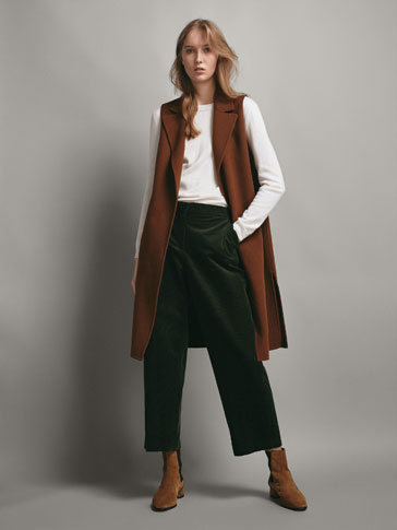 CROPPED COTTON CORDUROY TROUSERS