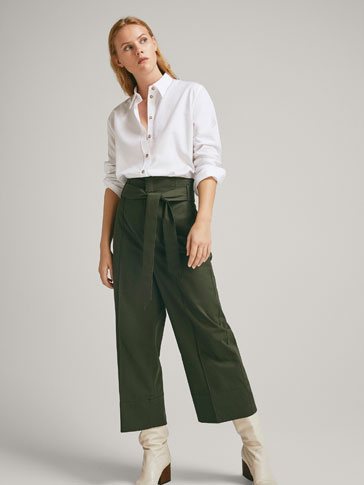 COTTON CULOTTES WITH TIE