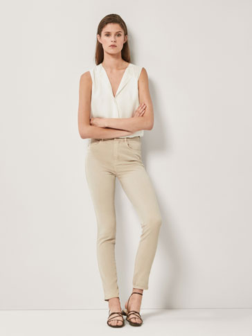 PANTALÓN SARGA HIGH RISE SKINNY FIT