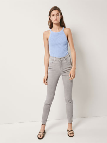 HIGH RISE TWILLBUKSER SKINNY FIT