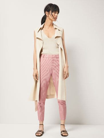 HOUNDSTOOTH CHINO TROUSERS