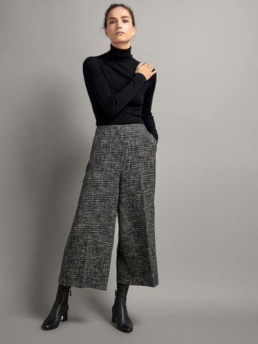FLECKED CHECK CULOTTES