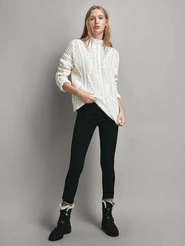 Seamed Skinny Trousers by Massimo Dutti