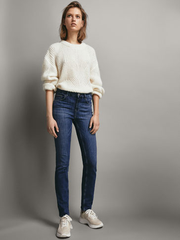 PANTALONI IN JEANS MID RISE STRAIGHT FIT